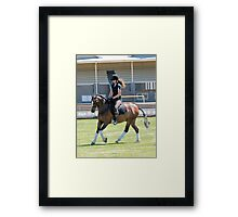 Warming up -  Royal Hobart Show Tasmania Framed Print