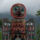 Totem pole Ketchican Alaska by creativegenious