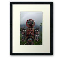 Totem pole Ketchican Alaska Framed Print