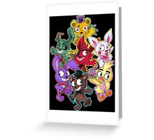 Five Nights at Freddys 1-4 Chibi Greeting Card