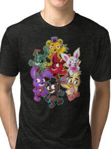 Five Nights at Freddys 1-4 Chibi Tri-blend T-Shirt