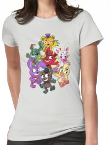 Five Nights at Freddys 1-4 Chibi Womens Fitted T-Shirt