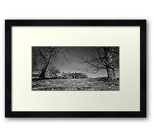 The Old Home beneath the Trees Framed Print