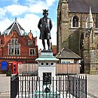 James Boswell Statue, Lichfield  by Rod Johnson