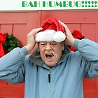 Bah humbug!  Humourous elderly man on Christmas by donna rae moratelli