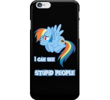 Stupid people iPhone Case/Skin