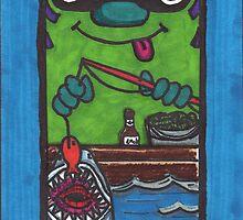 Doodle Fisherman by lequarius