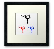 Yoga pilate  Framed Print