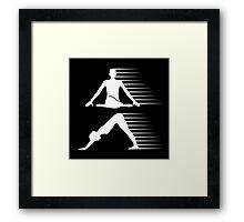 Meditation and yoga energy  Framed Print