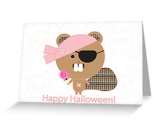 Kawaii Pirate Beaver Greeting Card