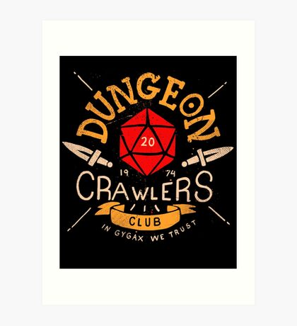 Dungeon Crawlers Club Art Print