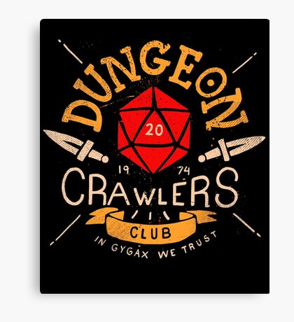 Dungeon Crawlers Club Canvas Print