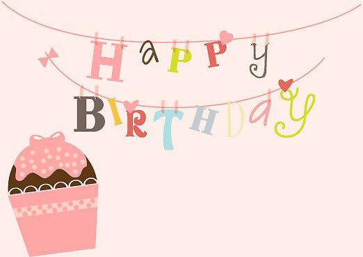 Happy  Birthday Pink String by sweettoothliz