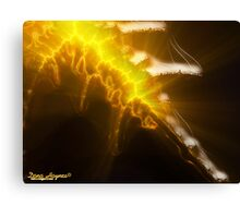 Flaming Sword Of Truth Canvas Print