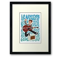 Guitar Heroes - Marty McFly  Framed Print