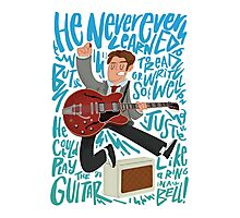 Guitar Heroes - Marty McFly  Photographic Print