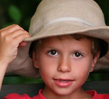 Boy and Felt Hat by tanmari