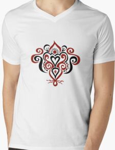 Bound Heart Mens V-Neck T-Shirt