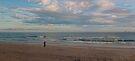 Watego's Beach - Sunrise surfers by Odille Esmonde-Morgan