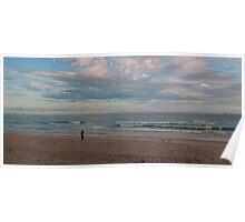 Watego's Beach - Sunrise surfers Poster
