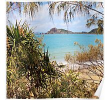 Tranquil bay through the trees Poster