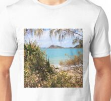 Tranquil bay through the trees Unisex T-Shirt