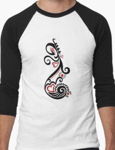 Musical Motif Men's Baseball ¾ T-Shirt