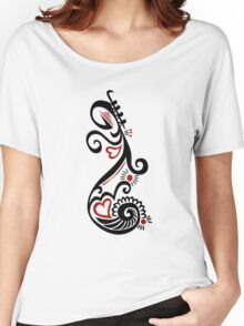 Musical Motif Women's Relaxed Fit T-Shirt