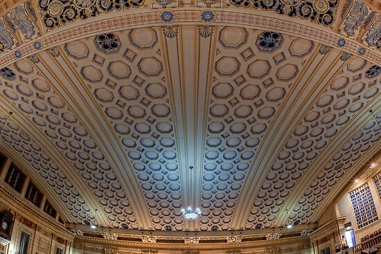 Masonic Memorial Temple Coffered Ceiling • Brisbane • Queensland by William Bullimore