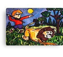 Lion Hunt Canvas Print