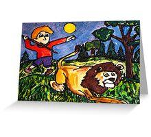 Lion Hunt Greeting Card