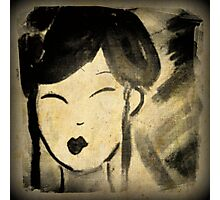 Vintage Style Geisha Photographic Print