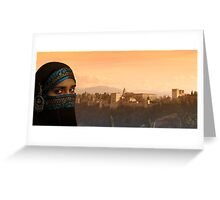 alhambra sunset Greeting Card