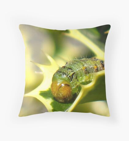 Heimlich In The Holly Bush Throw Pillow