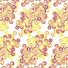Firery Curlicules Pattern by Wealie