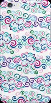 Primeval Swirls Pattern by Wealie
