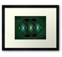 Jade Geometric Framed Print