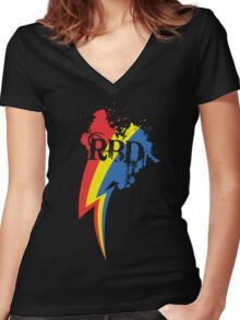 Speedpainting: Legacy Women's Fitted V-Neck T-Shirt