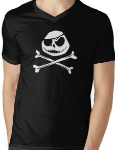 Jolly Jack Roger Mens V-Neck T-Shirt