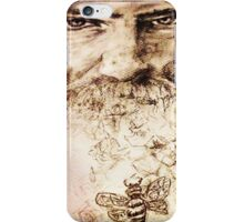 Ohio and a swarm of bees, pen on paper, 2015, Christine Hill iPhone Case/Skin