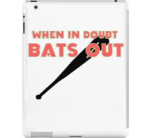 BATS OUT iPad Case/Skin