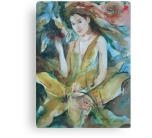 Yellow Belle Canvas Print