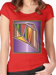 GRADIENT  ART Women's Fitted Scoop T-Shirt