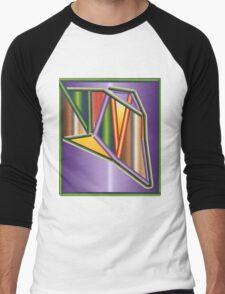 GRADIENT  ART Men's Baseball ¾ T-Shirt