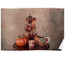 Thanksgiving Scene Table Setting Poster