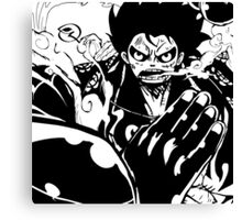 Luffy Gear 4 - Ready To Fight Canvas Print