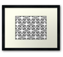 Calligraphic Motif Pattern Framed Print
