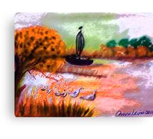 A lovely Fall day to be outside, watercolor Canvas Print