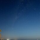 Looking down Endeavour Strait from Seisia on a moonlit night by Chris Cohen