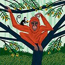 The Orangutan in The Orange Trees by Oliver Lake